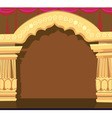 temple archway vector image vector image