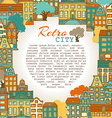 Bright city background vector image