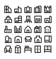 Buildings and Furniture Icons 5 vector image