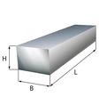 Steel block plate industrial metal object vector image