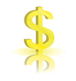 sign of dollar vector image vector image