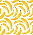 Seamless Stylish Pattern with Ripe Bananas Fruit vector image