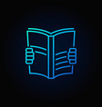 Book read blue icon vector image