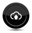 Button with arrow in cloud vector image