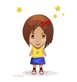 cute cartoon children girl in vector image