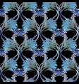 floral damask seamless pattern vintage vector image