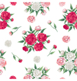 Floral Seamless Pattern Peonies Background vector image