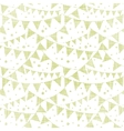 Green Textile Party Bunting Seamless Pattern vector image