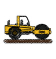 isolated road roller design vector image