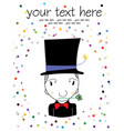 magician cartoon vector image