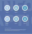 set of 6 editable equipment outline icons vector image