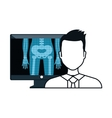 X ray and doctor man vector image