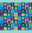 pattern of fashionable mens wear background vector image