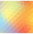 Colorful rainbow triangular background vector image