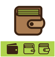 set of wallet icon vector image