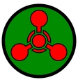 chemical weapon symbol vector image