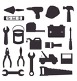 Constructions and tools theme design vector image