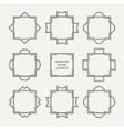 Set of mono line retro frame vector image