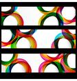Abstract circles banner vector image