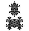 flowers tribal tattoo set vector image