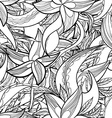 hand-drawn floral abstract seamless pattern vector image