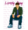 lonely day vector image