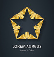 Modern stylish 3D gold logo Golden Design element vector image