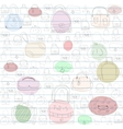 Seamless pattern for ladies handbags vector image