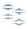 set calligraphic vintage design elements vector image