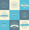 Set of outline logo templates vector image