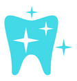 strong tooth logo icon flat style vector image