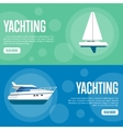 Yachting Website Template Set Horizontal banners vector image