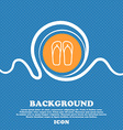 Flip-flops Beach shoes Sand sandals icon sign Blue vector image