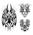 Maori tribal tattoo set vector image