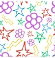 Hand drawn pattern with flowers and lightning vector image vector image