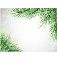 christmas tree background snowflake vector image