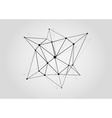 Black and White Lattice Shape Symmetric Lined vector image