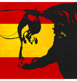 spanish bull vector image