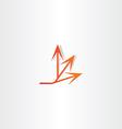 arrow spread icon design vector image