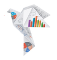 Origami dove with math symbols vector image