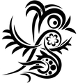 Bird tatoo vector image