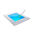 icon tablet vector image