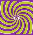 optical with eye vector image