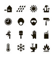 paint icons set usage safety information vector image
