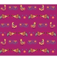 pattern of rooster vector image