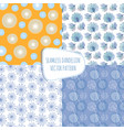 seamless patterns with dandelions endless vector image