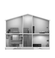 House cut with interiors vector image vector image