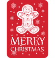 chistmas greeting with cookie vector image vector image