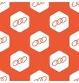 Orange hexagon chain pattern vector image