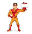 Handsome Superhero Card vector image vector image
